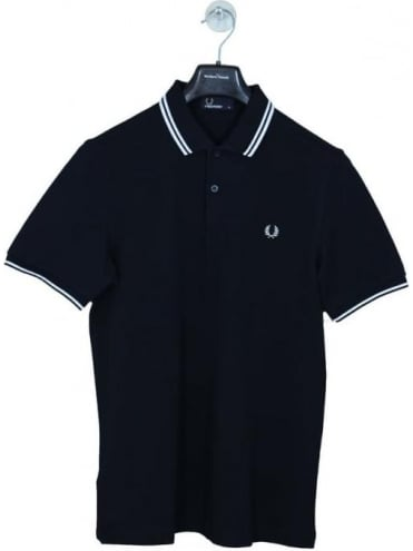 Classic Twin Tipped Polo - Navy/White