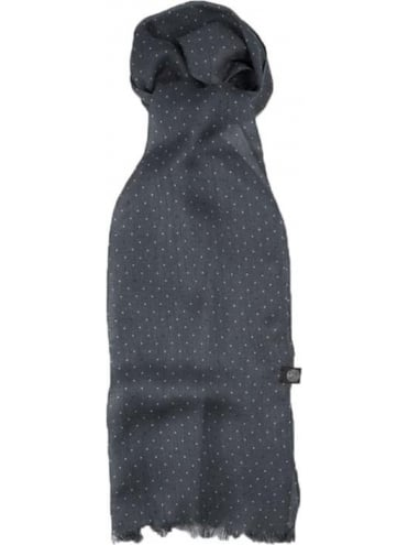 Polka Dot Scarf - Charcoal