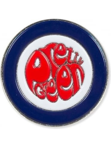 Pretty Green Target Pin Badge - Red