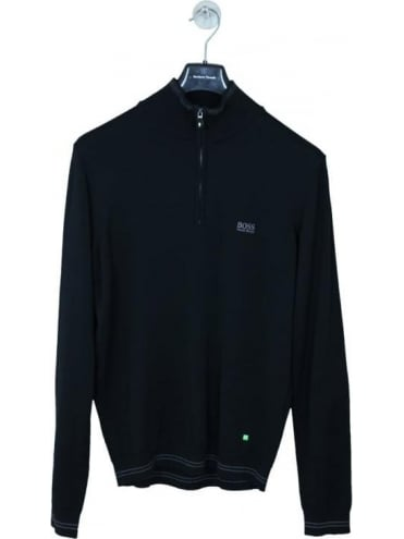 Zime 1/2 Zip Knit - Black