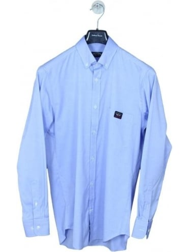 Paul and Shark Pocket Logo Oxford Shirt - Blue Light