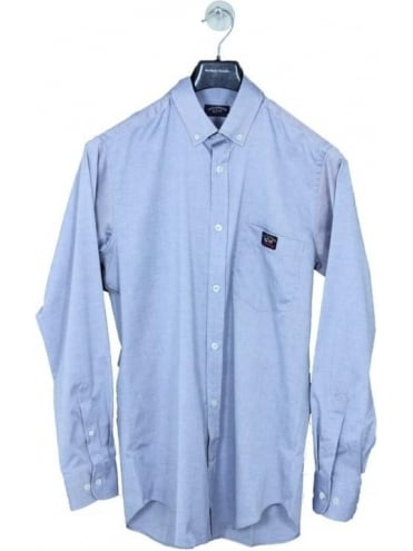 Paul and Shark Pocket Logo Oxford Shirt - Navy