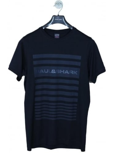 Paul and Shark Tonal Logo T.Shirt - Navy