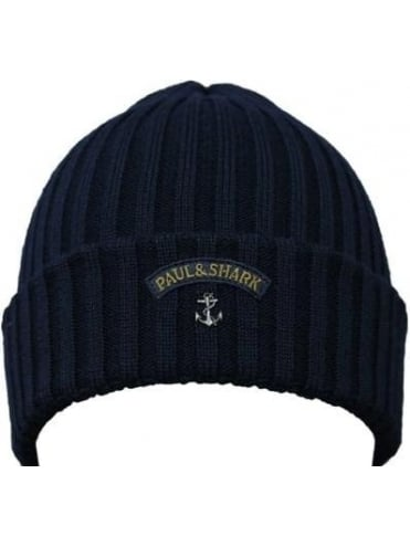 Knitted Logo Beanie - Navy