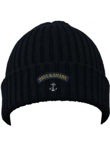 Knitted Logo Beanie - Black