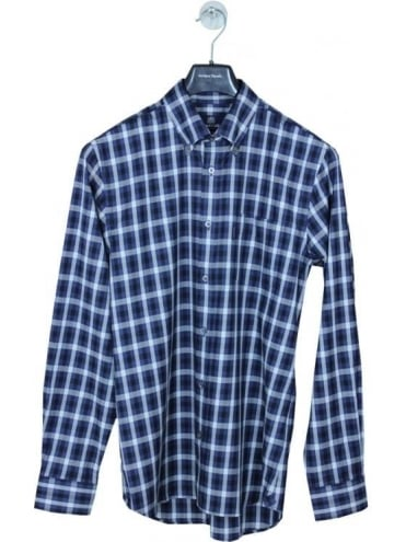 Aquascutum Emsworth Club Check Shirt - Navy