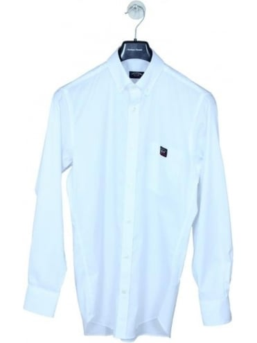 Pocket Logo Oxford Shirt - White