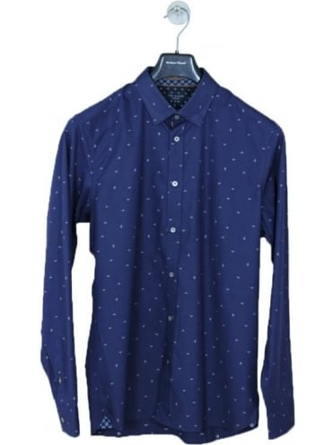 Icecream Scatter Filcoupe Shirt - Navy