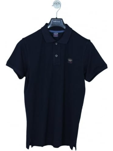 Paul and Shark Classic Logo Short Sleeve Polo - Navy