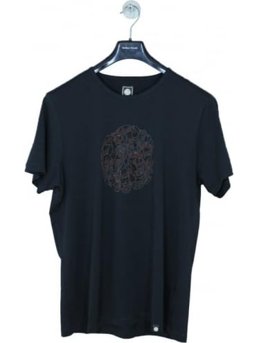 Pretty GreenTurner Paisley Logo T.Shirt - Black