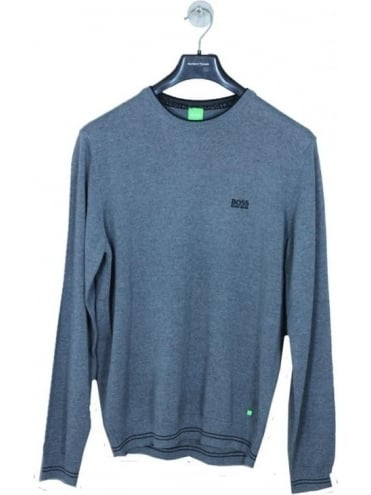 Rime Cotton Crew Neck Knit - Medium Grey