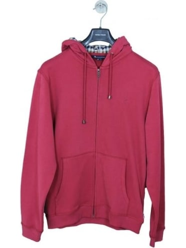 Aquascutum Luther Hooded Sweat - Red