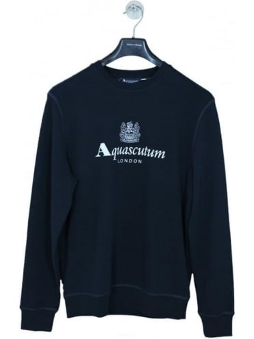 Crew Neck Logo Sweat - Navy