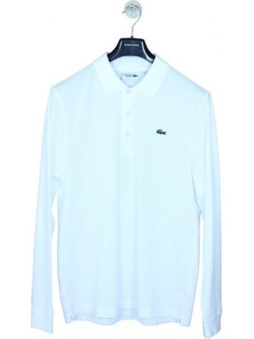 Lacoste Sport Classic Long Sleeve Polo - White