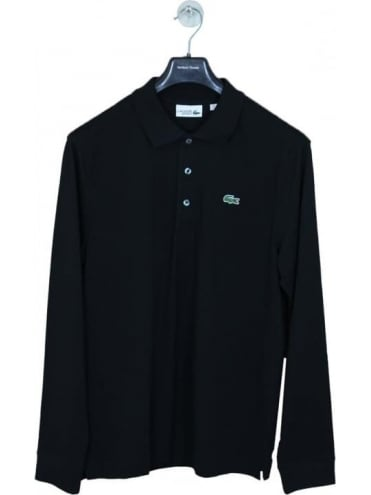 Classic Long Sleeve Polo - Black
