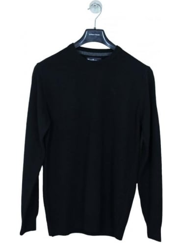 Essential Lambswool Knit - Black