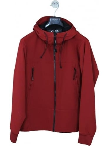 CP Company Soft Shell Google Jacket - Red