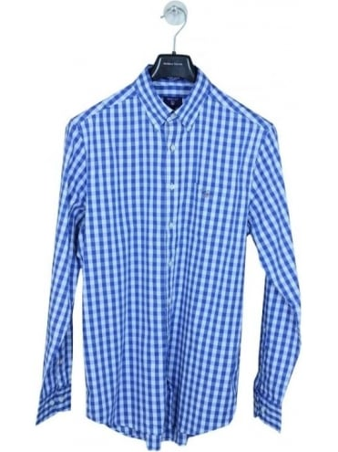 Heather Oxford Gingham Shirt - Blue
