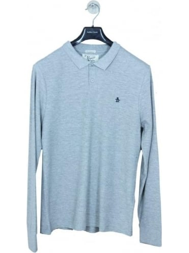 Winston Long Sleeve Polo - Rain Heather