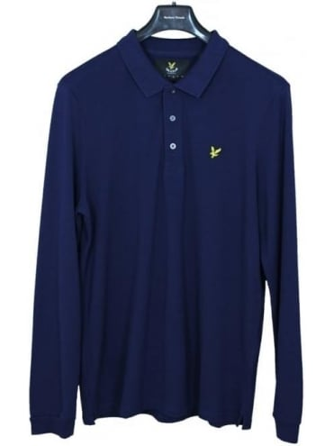 Lyle and Scott Long Sleeve Polo - Navy
