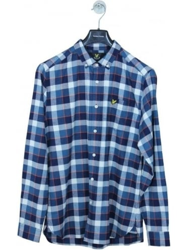 Lyle and Scott Check Flannel Shirt - Off White