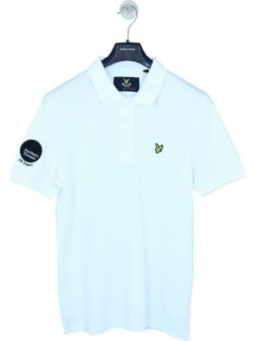Lyle and Scott X NT 10 Year Anniversary Polo - White