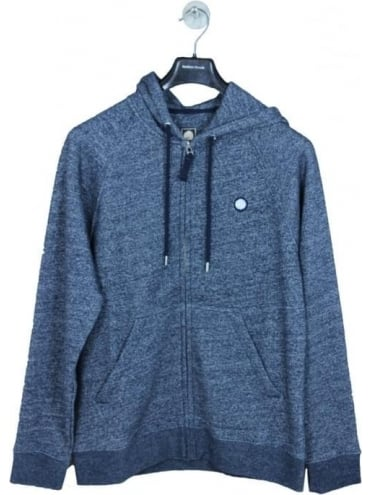 Pretty Green Oxted Logo Zip Hoody - Navy