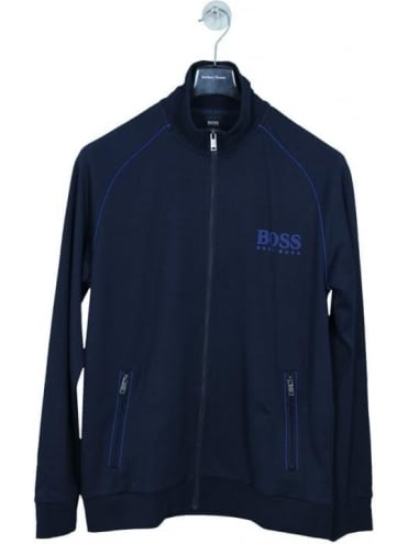 Zip Through Sweat Jacket - Dark Blue