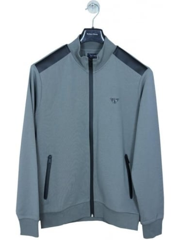 Armani Jeans Zip Through Track Jacket - Grey/Black