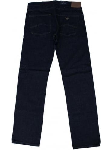 Armani Jeans J45 Slim Fit Jeans - Dark Denim