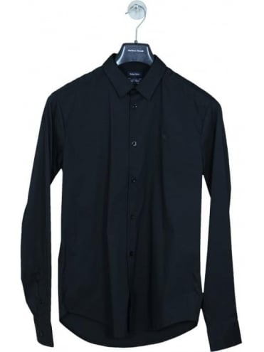 Poplin Logo Shirt - Black