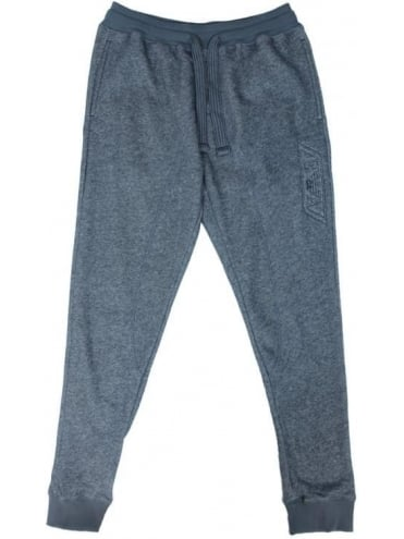 Emporio Armani Tonal Branded Sweatpants - Dark Grey