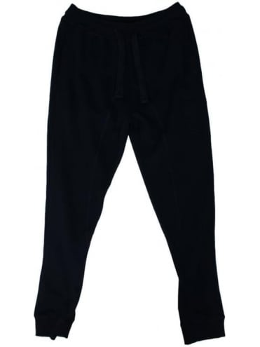 Emporio Armani Tonal Branded Sweatpants - Black