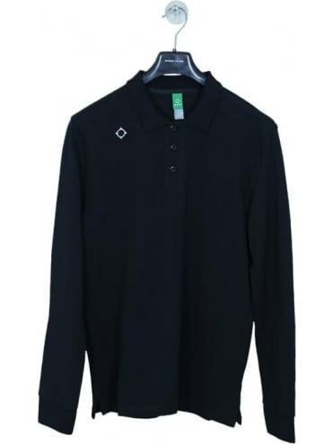 Kit Issue L/S Pique Polo - Black