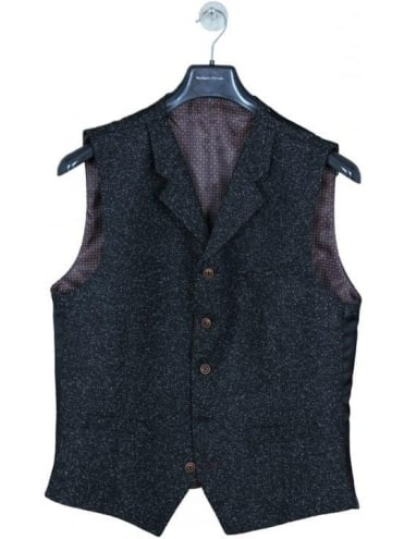 Gibson London Donegal Waistcoat - Charcoal