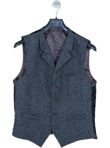 Gibson London Donegal Waistcoat - Grey