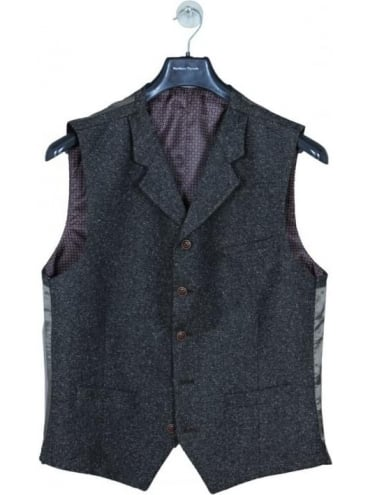 Gibson London Donegal Waistcoat - Taupe