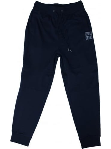 Logo Cuffed Sweat Pants - Dark Blue