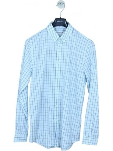 Lacoste Twin Check Button Down Shirt - Mint
