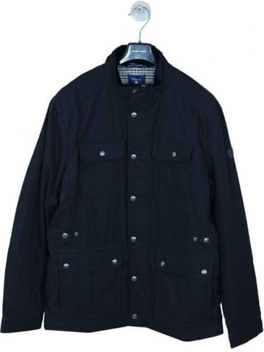 The Moore Wax Jacket - In Navy