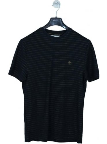 Stripe Jacquard T Shirt - Black