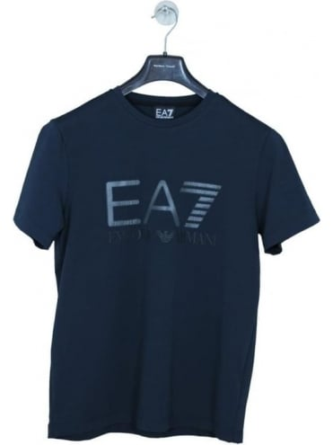 EA7 Chest Logo T Shirt - Navy