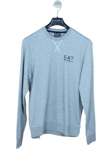 EA7 Branded Chest Logo Sweatshirt - Grey