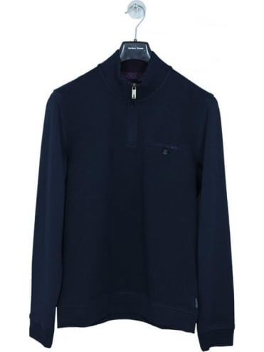Ted Baker Draco Funnel Sweat - Navy