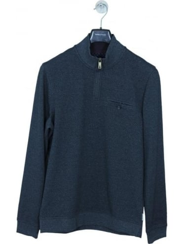 Ted Baker Draco Funnel Neck Sweat - Charcoal