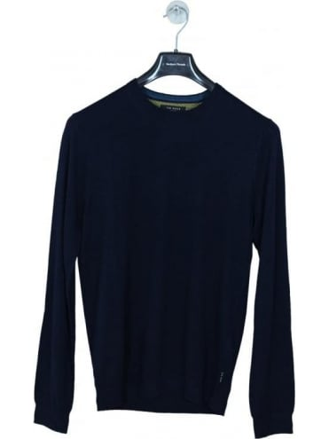 Ted Baker Cashop Cashmere Crew Neck Knit - Navy