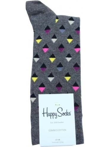 Happy Socks Mini Diamond Single Pack - Black