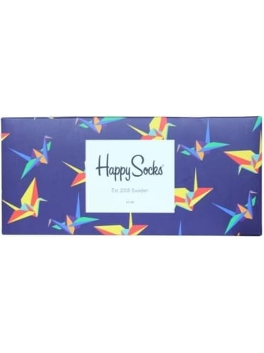 Happy Socks Origami 4 Pack Box - Multi