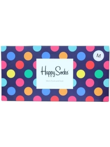 Happy Socks Big Dot Trunk And Sock Set - Multi