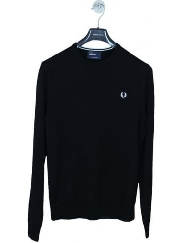 Fred Perry Classic Crew Neck Knit - Black